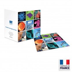 Carte de vœux microfibre format 145x145 mm