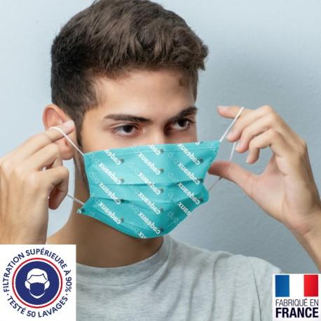 Masque catégorie 1 en tissu - adulte