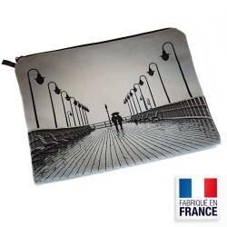 Trousse plate en velours - Format A5