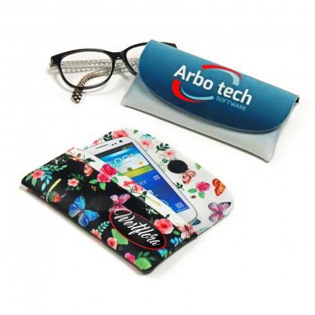 Etui à lunettes velours microfibre 160x80 mm